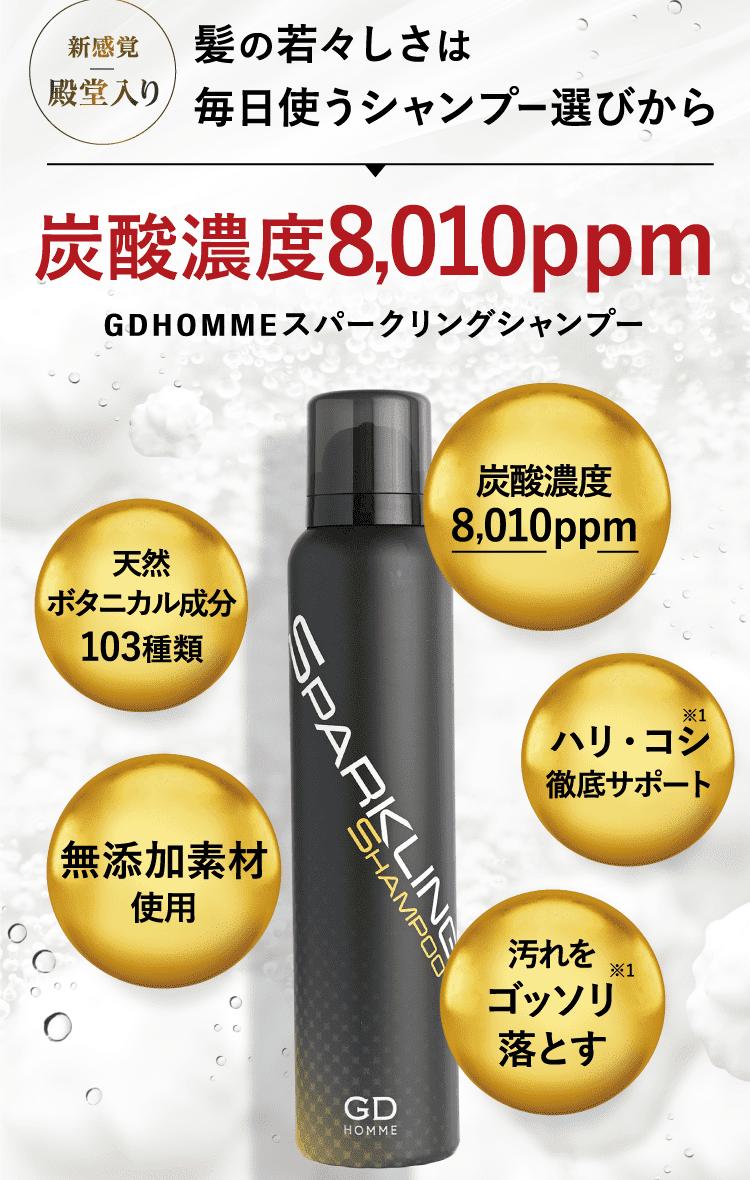 髪の若々しさは毎日使うシャンプー選びから炭酸濃度8,010ppm
